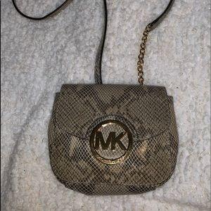Michael Kors leather crossbody snakeskin embossed